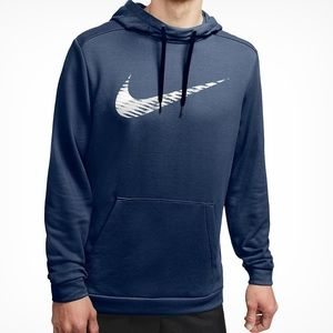 4/$25 Nike Navy Blue swoosh dri fit hoodie